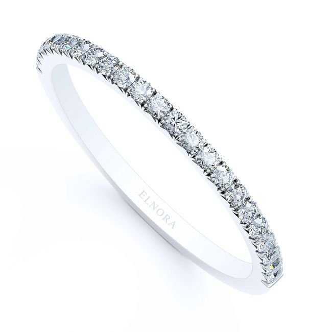 French Pavé Forever Signature Trouwring Vrouw