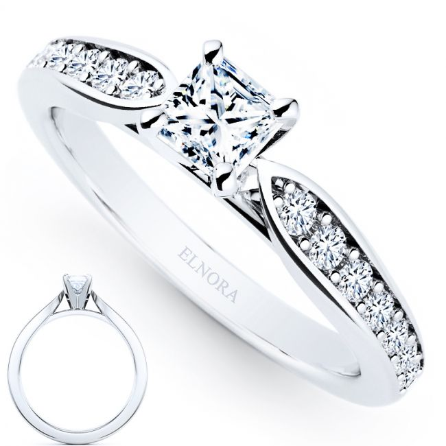 Forever Collectie - 0.58ct Diamonds Ring - Princess