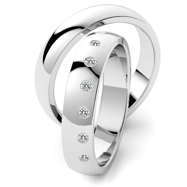 10 Diamanten Ringen Set Klassiek Design